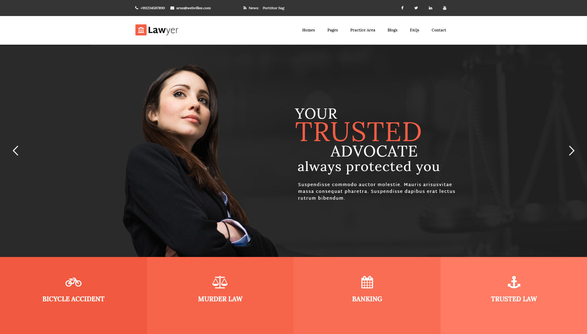 Lawyer Multipurpose WordPress Theme